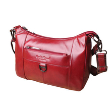 Natural Skin Fashion Women's Messenger Bag Shopping Hobo Female Cross body Bag Travel Genuine Leather Ladies Sling Shoulder Bags(China)