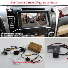 Car Rear View Back Up Reverse Camera Sets For Toyota Camry XV50 2012~2016 - HD Night Vision RCA & Original Screen Compatible