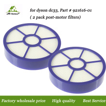 2-pack High Quality Post-motor Hepa Filter Filters Designed to Fit for Dyson DC33 Multi-Floor Animal Replacement Part 921616-01