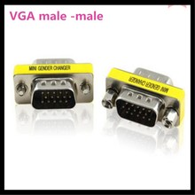 150pcs  15 Pin VGA SVGA Gender Changer Adaptor Connector M/M Male to Male