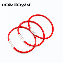 COMEOWN 2017 Women's Fashion Bracelets 2pcs Real Leather Cord Bracelet 3mm 16-25cm Red Thread Jewelry Bracelets & Bangles(China)
