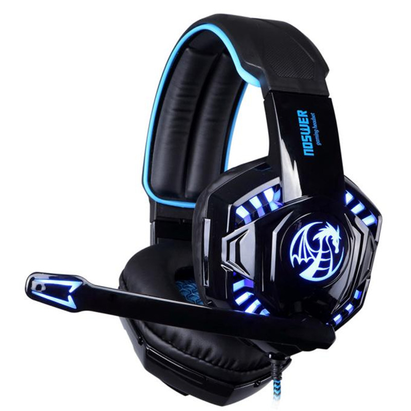 HOT Computer Stereo Gaming Headphones Best casque Deep Bass Game Earphone Headset with Mic LED Light for PC Gamer quality DE7<br><br>Aliexpress