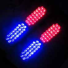 4x22 LED Strobe Flash Warning EMS Police Car Light Flashing Emergency Firemen Lamp 4*22 Blue Red 3 Modes 22 led Free Shipping(China)