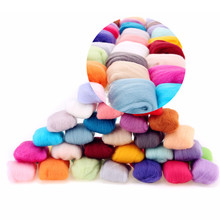 1 Set 3g 36 Colors Merino Wool Fibre Roving For Needle Felting Hand Spinning Toys Doll Needlework DIY Crafts Mayitr(China)