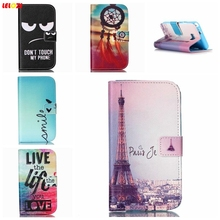 LELOZI Don't Touch My Phone Cartoon Paiting Flip Leather TPU Wallet Cover Magnetic Case for samsung Galaxy S2 SII GT-i9100(China)