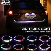 47inch Car Styling RGB led trunk strip Tailgate Light Brake RED Reverse White Colourful flash turn signal yellow strips for car