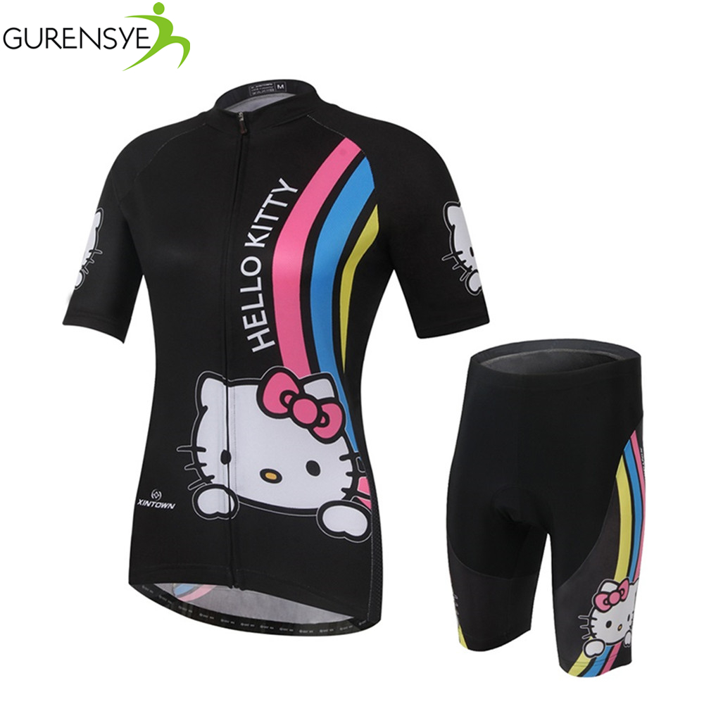 Summer New Womens Cycling Clothing Bike Bicycle Short Sleeve Cycling Jersey Sets Free shipping/ropa ciclismo/bike jersey/hombre<br><br>Aliexpress