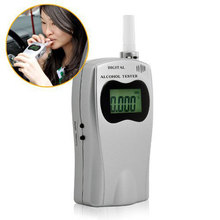 NEW Professional Police Digital Breath Alcohol Tester Portable Blowing Breathalyzer sobriety tester Free shipping Dropshipping(China)