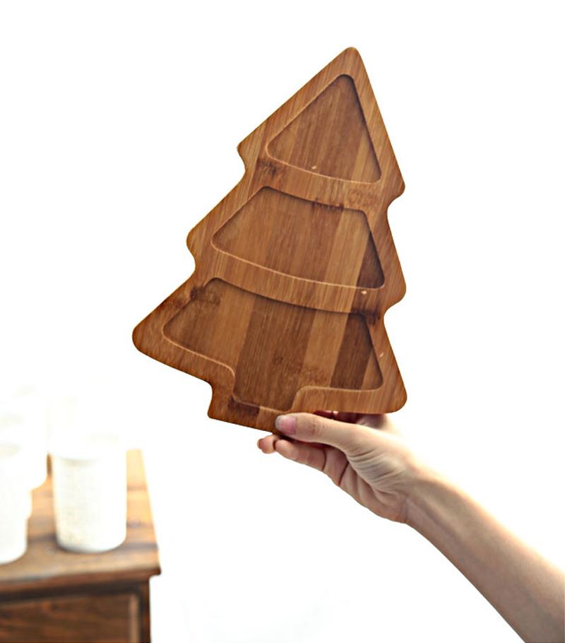 Creative Ceramics Christmas Tree Wood Tray  (19)