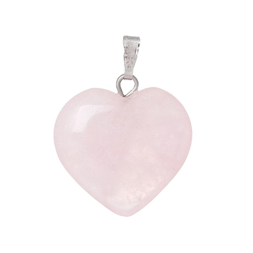 Doreenbeads-Chaude-Mode-Femmes-Grade-B-cr-Rose-Gem-Pierre-Charme-Pendentifs-Coeur-Rose-Bijoux-Cadeau