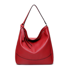 Casual Women Shopper Bags Black Big Tote Top Bag Quality PU Work Bag Lady Handag Vintage Red Large Cheap Shoulder Bag
