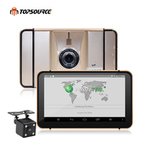 "7"" Android Car Navigation Portable GPS Navigator 8GB with Rear view camera dvrs Vehicle gps Quad-core Bluetooth AVIN sat nav(China)"