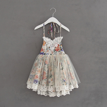 Retail Girls Summer Dress 2017 Summer Girl Lace Tulle Strap Dress Fashion Cute Kids Belle Dresses High-quality Goods