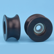 1pc 0840UU 8mm Groove Guide Pulley Sealed Rail Track Ball Bearing 8*40*20.7mm for Home Improvement Tools Mayitr(China)