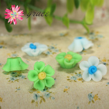 20pc/lot 16mm Cheap Cute Polymer Clay Fimo Art Flower Beads With Hole Making Bracelet Necklace Kids Hair Bands Jewelry Accessory(China)