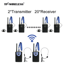 TP-WIRELESS 2.4G Tour Guide System Translation System Digital Audio Tour Guide System teach tourism 2 Transmitter + N Recceivers(China)