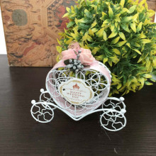 GAGA !Free shipping WHITE wedding chocolate box , iron carriage baby shower sweet boxes , 100 pcs/lot ,