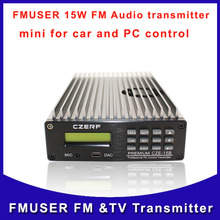 Fmuser CZE- 15B 15W Broadcast transmitter Professional PC Control FM Radio Transmitter New product Free Shipping