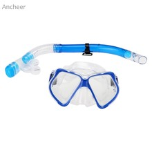 New Scuba Diving Swimming Glasses Snorkel Mask Silicone Dry Snorkel Set Scuba Snorkeling Gear Kit Swimming Equipment Acceroies