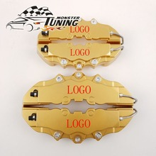Tuning Monster 4PCS Brem Car Auto Disc Brake Caliper Cover With 3D Word Universal Kit Fit to 17 Inches 2 Medium and 2 Small Gold