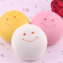 Quality Jumbo 9.5cm smile marshmallow bun squishy phone charm Squishy Pendants Baby Toys Phone Straps for Cell Phone Decoration