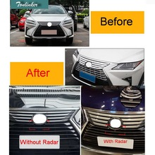 Tonlinker 1 PCS Car Styling DIY ABS Chrome Front grille trim cover Light box Cover Case Stickers for Lexus RX200t 450h 2016