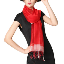 2017 Fashion Scarve Solid Color Pashmina Shawl Wrap Fringe Prom Weddings Evening Scarfs for Women(China)