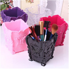 2016 Fashion New Design 1pcs/lot 5 colors Acrylic Makeup Cosmetic Storage Box Case Holder Brush Pen Organizer Decorative 671143(China)