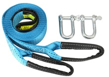 7Ton--8TonX3M--5M with reflective stripe Towing rope tow webbing sling lifting sling visible at night(China)