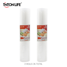 TINTON LIFE 25cm*500cm 2 Rolls/set Vacuum Sealer Storage Bags Grade for Sous Vide and Foodsaver