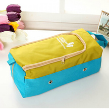 Hot Sale Fashion Oxford Travel Portable Tote Shoes Pouch Waterproof Foldable Shoes Storage Bag Travel Clothing Storage Bag