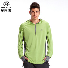 TECTOP SL3053 Spring and Summer Outdoor Quick Dry Breathable Fishing Clothes Elastic Polyester(China)