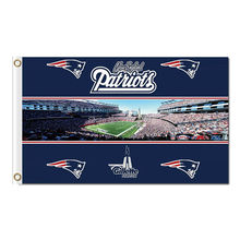 New England Patriots Flag Logo Gillette Stadium Football Banners 3ft X 5ft Banner World Series Super Bowl Champions Flag