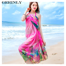 GERINLY 180x150cm Sarongs Sexy Women Scarves Summer Pareo Dress Cute Fish Printed Chiffon Scarf Shawl Beach Cover Up Bikini Wrap(China)