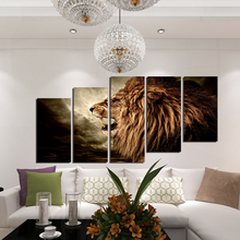 5D diy diamond painting animal lier pictures 5pcs square cross stitch needlework home decorative relative gifts Wall Art
