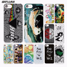 BiNFUL rock music Pink Floyd groups the wall design hard White Case Cover for Apple iPhone 7 6 6s Plus SE 5 5s 5C 4 4s phone cas(China)