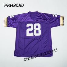 Retro star #28 Adrian Peterson Embroidered Throwback Football Jersey(China)