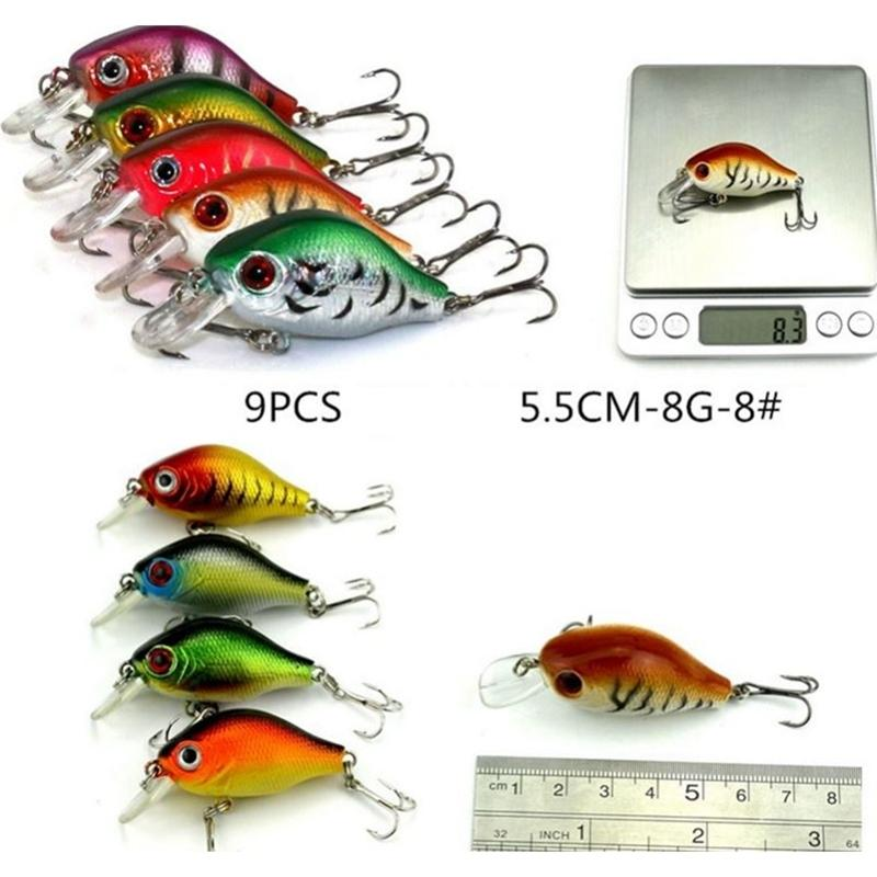 DSstyles Fishing Lure Popular 43 pcs Mixed 6Models Minnow Lure Crankbait Tackle Assorted Fishing Lures Kit<br>