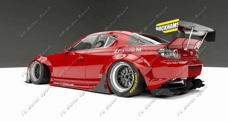 2009-2012 Mazda RX-8 SE3P Padem Rocket Bunny Style Wide Body Kit FRP (55)_