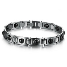 The new listing of men's Bracelet Black Titanium magnet magnetic bio energy treatment of male jewelry bracelets Christmas gift