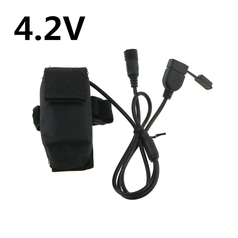 Charger 4.2V 6400mAH Battery Pack for Bike Front Light Headlamp Rechargeable