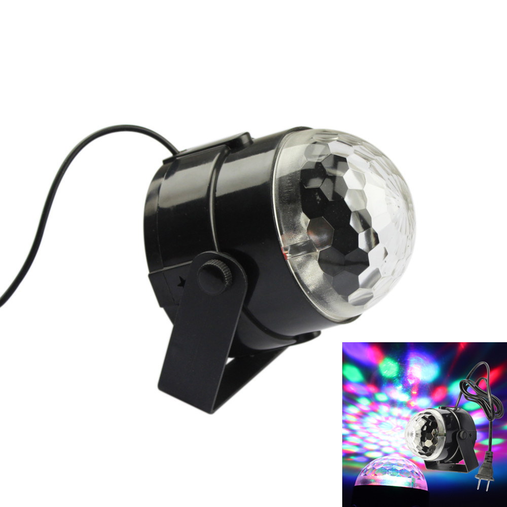 1pc Mini RGB LED Crystal Magic Ball Stage Effect Lighting Lamp Bulb Party Disco Club DJ Light Show Voice-control Automatic lamp<br><br>Aliexpress