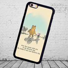 The Winnie Pooh Venice Bear Printed Soft Rubber Cover For Samsung Galaxy S4 S5 S6 S7 edge plus Note 3 Note 4 Note 5 Cell Phone