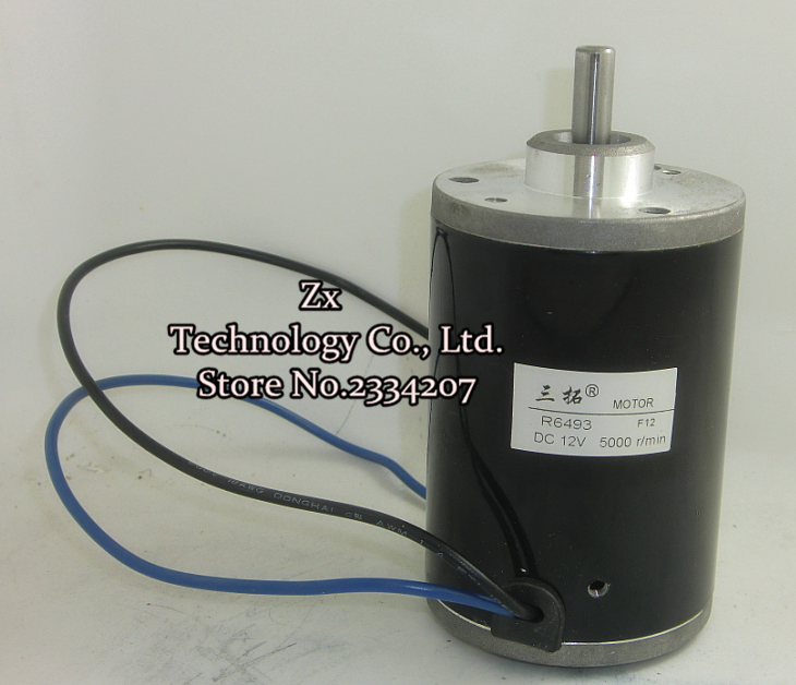 R6493  5000rpm DC 12V 100W 22N*cm 10A High speed Scooter motor Long output shaft for Ship/Robot/Motor model Machine tools<br><br>Aliexpress