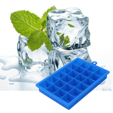 24 Grid DIY Big Ice Cube Mold Square Shape Silicone Ice Cube Tray Fruit Ice Cream Maker Kitchen Bar Drinking Accessories(China)