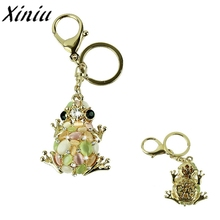 Bag Accessories New Frog Stone Crystal Charm Lovely Pendant of Bag Chain Gift for Girl #7516