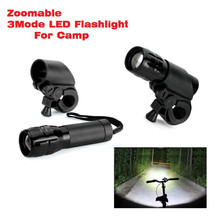 Professional 2000lm Bike light CREE Q5 Zoomable Flashlight Mini Torch LED Cycling Bike Bicycle Front Head Light With Mount