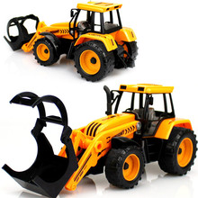 Engineering vehicles kids toys Excavator bulldozer forklift Logging truck model car educational toys For boys children Gifts toy(China)