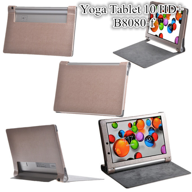 Resale For YOGA B8080 Magnet Leather Cover Case For Lenovo YOGA Tablet 10 HD+ cover case ,5 Color+screen protectors<br><br>Aliexpress