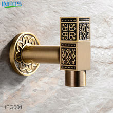 INFOS Antique Brass Bronze Garden Long Faucet Decorative Outdoor Faucets Tap Bibcock Laundry Utility Robinet torneira IFG601